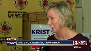 Lt. Gov. candidate Lynne Walz interviewed at watch party