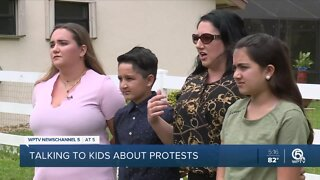 Talking to kids about protests