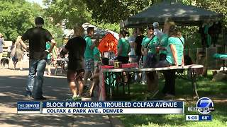 Colfax Business Improvement District hosts Art-I-Fax block party along troubled corridor - Video