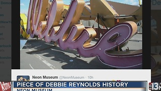 Piece of Debbie Reynolds history at Neon Museum - Video