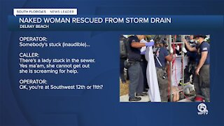 911 caller finds naked woman in Delray Beach storm drain