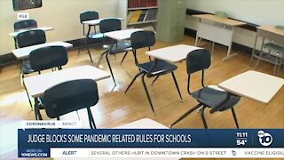Judge overturning pandemic-related school rules