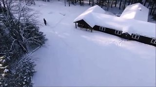 Northwoods scout dining hall collapses under snow [VIDEO]