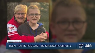 Teen hosts podcast to spread positivity