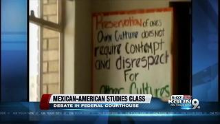 TUSD Mexican-American Studies course removal in court - Video