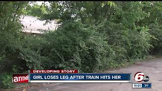 Girl loses leg after being hit by train on Indy's west side - Video