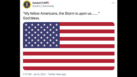"The Goldfish Report No. 639 - ""My Fellow Americans, The Storm Is Upon Us......."" GOD BLESS"