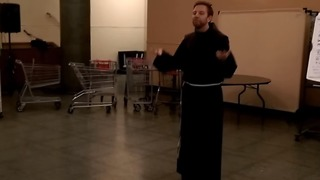 Franciscan Friar Shows Off Irish Dancing Skills After St Patrick's Day Blessing