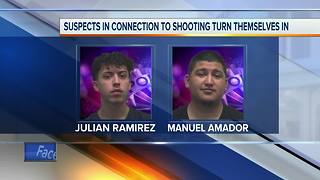 Two turn themselves in after shots were fired - Video