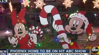 Phoenix home to be featured on hit ABC show about Christmas lights - Video