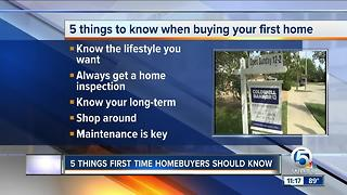 5 things first-time homebuyers should know - Video
