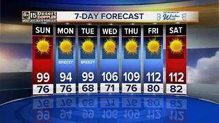 Saturday a warm day, slightly cooler on Sunday in the Valley - Video