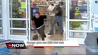 Good Samaritan gives stranger $500 stolen at a Walmart - Video
