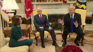 President Trump, Pelosi and Shumer clash over border security - Video