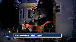 Local home decorates as Hogwarts for Halloween - Video