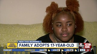 Family adopts 17-year-old