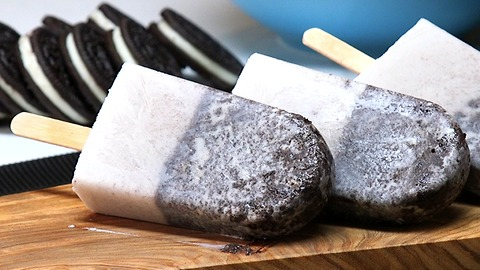 Cookies and Coconut Cream Popsicles