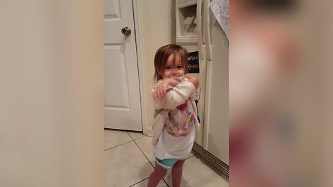 Adorable Tot Girl Asks For Whipped Cream By Making Cough Sounds