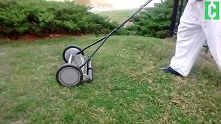 Could this old-fashioned mower save you money? - Video