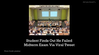 Student Finds out He Failed Midterm Exam Via Viral Tweet - Video