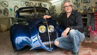 World War 2 Peugeot Converted To Art-Deco Masterpiece | RIDICULOUS RIDES
