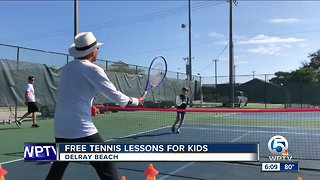 Free tennis lessons for kids in Delray Beach