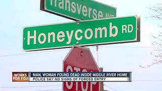 Man and woman both found dead in Middle River - Video