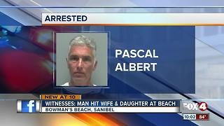 Father seen punching and grabbing his wife and daughters on Sanibel - Video
