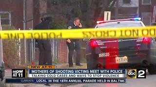 Mothers of shooting victims meet with Baltimore police