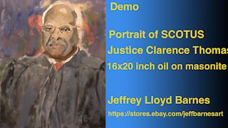 Oil Painting Portrait Demo Justice Clarence Thomas | Jeff Barnes Art