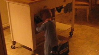 A Toddler Gets His Foot Stuck In A Beer Box - Video