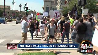 No Hate Rally brings hundreds to Plaza - Video
