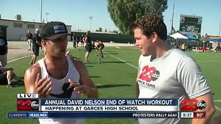 Officers, friends and family honor fallen BPD officer David Nelson with 3rd Annual EOW Workout - Video