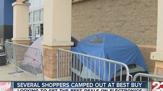 Black Friday shoppers camping out - Video