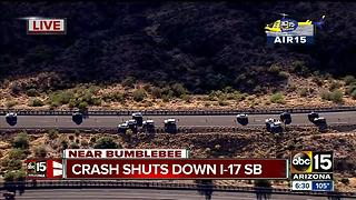 Five ejected from crash on I-17 and Bumble Bee - Video
