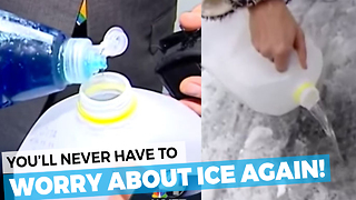 You'll Never Need To Worry About Ice Again With This Simple Trick! - Video
