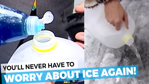 You'll Never Need To Worry About Ice Again With This Simple Trick!