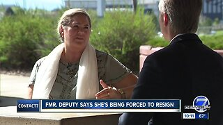Injured Arapahoe County deputy says she's being forced to resign