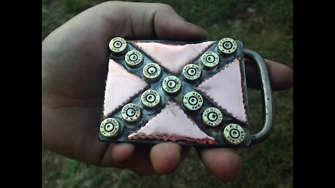 9mm Confederate Flag, IRON cross belt buckle. BANNED ITEM!!! RT ARTISAN WORKS