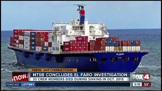 NTSB releases final El Faro report - Video