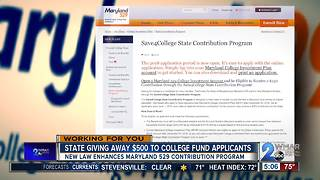 New law doubles Maryland's college funding program for some families - Video