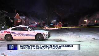 POLICE: Man kills three women, wounds three officers before taking his own life - Video