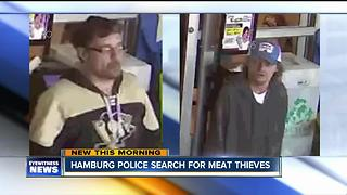 Police want to talk to men about stolen steaks - Video