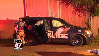 Driver of truck that hit officer arrested - Video