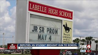 Student caught with gun in Clewiston High School