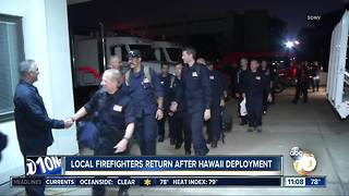 Local firefighters return from Hawaii