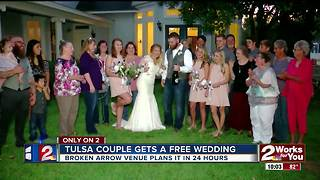 Tulsa couple gets the perfect wedding for free, planned in 24 hours - Video
