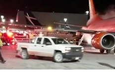 Airport Worker Films Fire After Crash at Toronto's Pearson Airport - Video