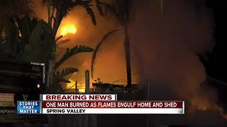Fire rips through home in Spring Valley
