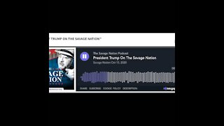 Trump on The Savage Nation radio show